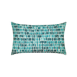 Thumbprint Lumbar Indoor/Outdoor Pillow by Elaine Smith