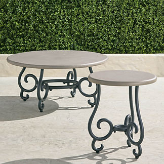 Eloise Tables in Faux Concrete-top