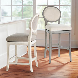 Georgia Upholstered Swivel Bar & Counter Stool
