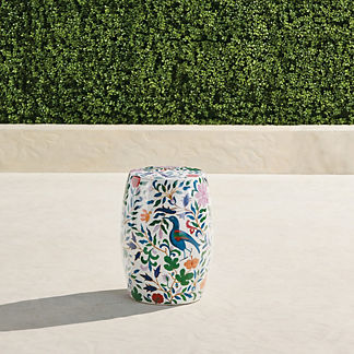 Flora Fauna Accent Stool