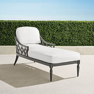 Avery Chaise Lounge with Cushions in Slate Finish, Special Order
