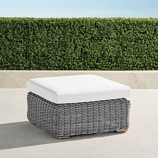 Brooke Hill Ottoman with Cushion, Special Order