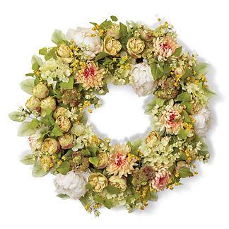 Ponte Vedra Daisy Hydrangea Wreath