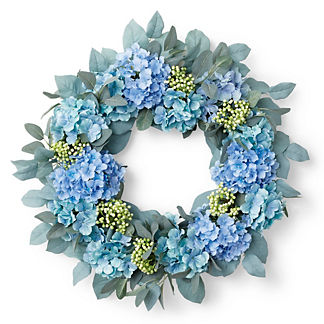 Madrid Hydrangea Lemon Leaf Berry Wreath