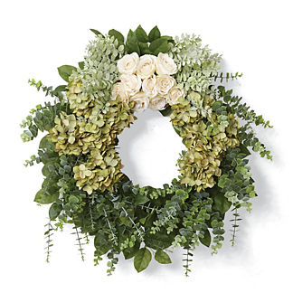Calla Rose Eucalyptus Wreath