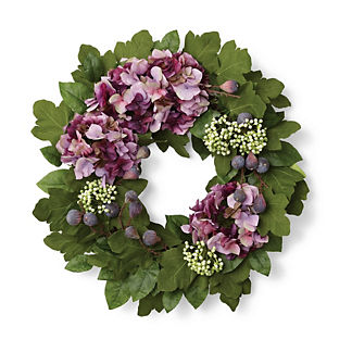 Palma Lemon Leaf Hydrangea Wreath