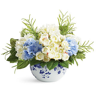 Blooming Mixed Hydrangea in Ming Vase