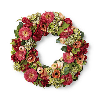 Valencia Mixed Floral Wreath