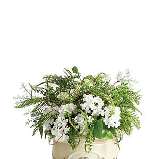 Outdoor Mixed Ferns and Hydrangea Urn Filler