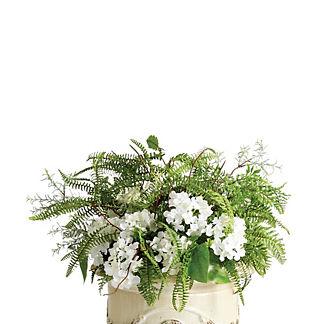Outdoor Mixed Ferns and Hydrangea Urn Filler