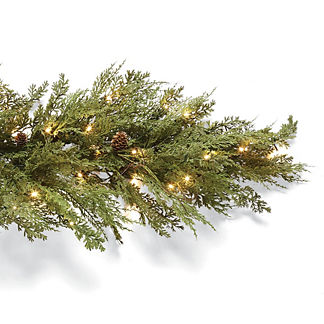 9 ft. Outdoor Soft Cedar Lighted Garland