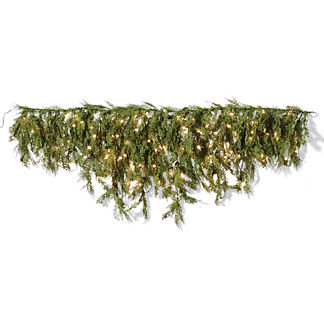 6 ft. Outdoor Soft Cedar Lighted Swag