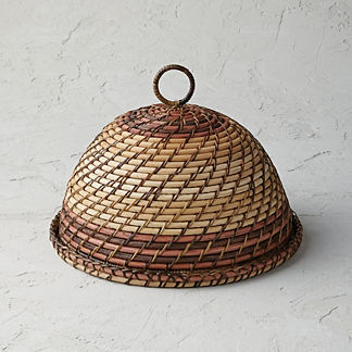 Rattan Nito Round Covered Tray