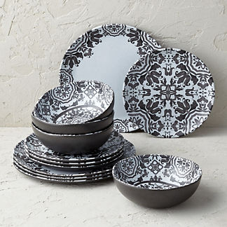 Elena Melamine 12-piece Dinnerware Set