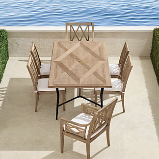 Surrey Hill 7-pc. Dining Set in Weathered Teak