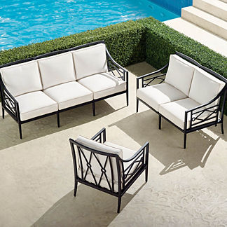 Surrey Hill 3-pc. Sofa Set in Aluminum