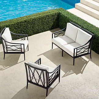Surrey Hill 3-pc. Loveseat Set in Aluminum