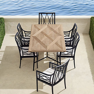 Surrey Hill 7-pc. Dining Set in Aluminum