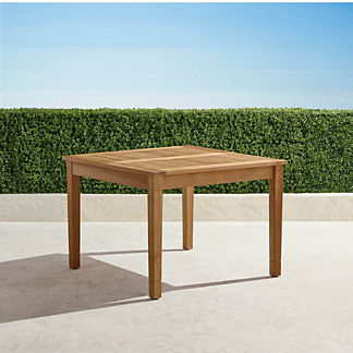 Classic Teak Expandable Dining Table in Natural Finish, 41