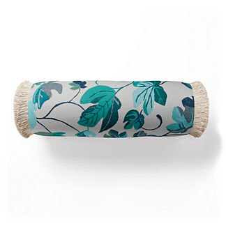 Thalia Fringed Bolster Indoor/Outdoor Pillow