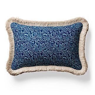 Manderly Fringed Lumbar Indoor/Outdoor Pillow