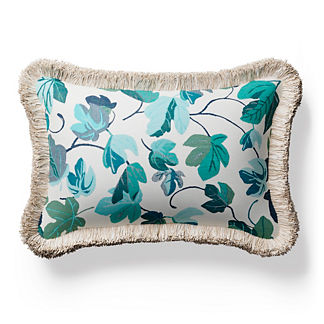 Thalia Fringed Lumbar Indoor/Outdoor Pillow