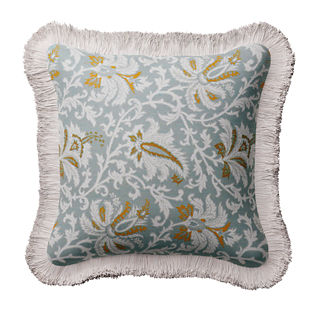 Reina Floral Fringed Indoor/Outdoor Pillow