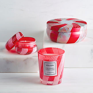 Voluspa Crushed Candy Cane Candle Collection