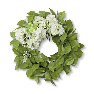 Outdoor Hydrangea Berries Wreath