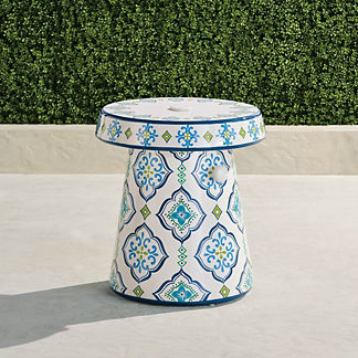Seville Tile Umbrella Table