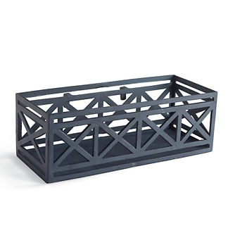 New York Botanical Garden Alix Trellis Side Panel Trough Box