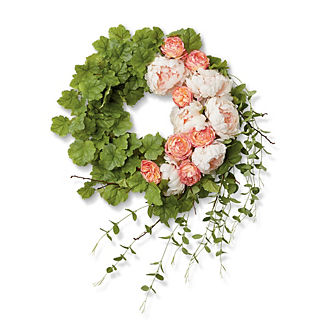 Barcelona Floral Geranium Leaf Wreath