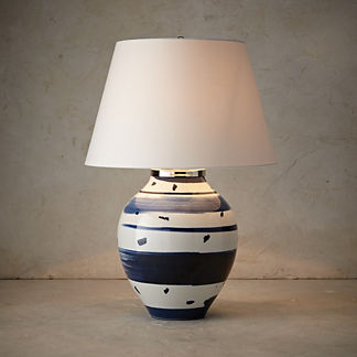 Modern Brushstroke Low Pot Table Lamp