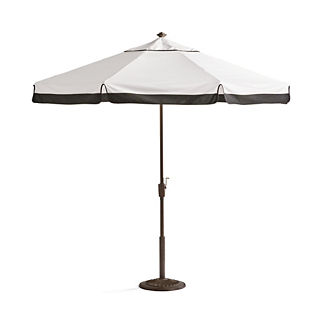 9 ft. Round Contrast Border Umbrella