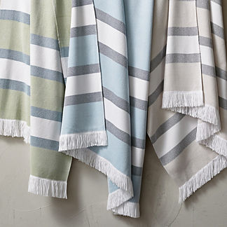 Sunbrella Striped Outdoor Throw
