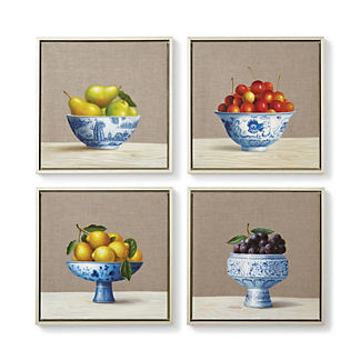Las Frutas Giclee Prints, Set of Four