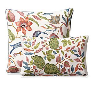 Majorelle Embroidered Decorative Pillow Covers