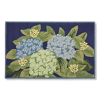 Nantucket Blooms Door Mat