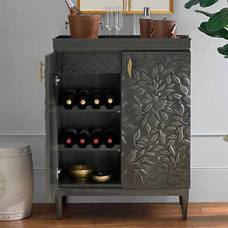 Limoncello Bar Cabinet in Charcoal