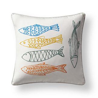 Pescado Indoor/Outdoor Pillow Cover