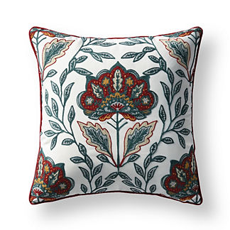 Indienne Embroidered Indoor/Outdoor Pillow
