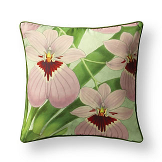 New York Botanical Garden Lavender Orchid Indoor/Outdoor Pillow