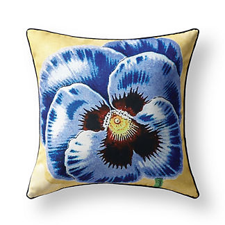 New York Botanical Garden Blue Pansy Indoor/Outdoor Pillow