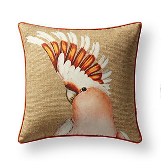 New York Botanical Garden Cockatoo Indoor/Outdoor Pillow