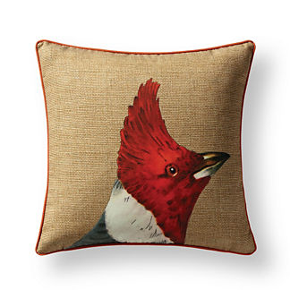 New York Botanical Garden Red Chester Cardinal Indoor/Outdoor Pillow