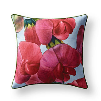 New York Botanical Garden Fuchsia Sweet Pea Indoor/Outdoor Pillow