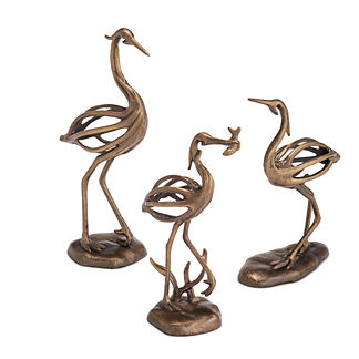 Stylized Baby Heron Statues