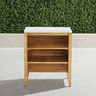 Westport Outdoor Kitchen Cabinet with Open Shelf