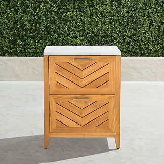 Westport Outdoor Kitchen Cabinet with Two Drawers