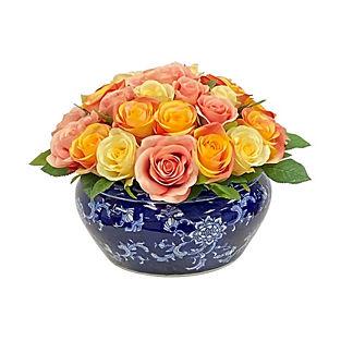 Rose Mix Fishbowl Vase
